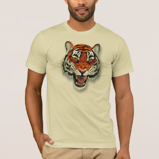 Tiger Head Fitted T-Shirts