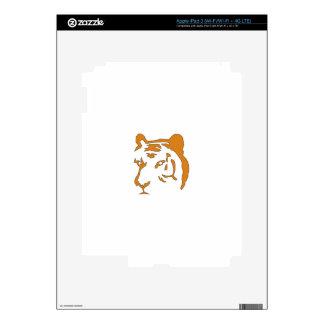 Tiger Head iPad 3 Decals