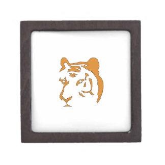 Tiger Head Keepsake Box