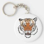 Tiger head keychain