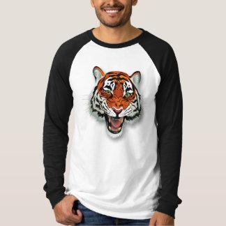 Tiger Head Long Sleeve Raglan Shirts
