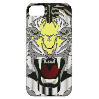 Tiger Head, Metallic-look,Wild Cat, Animal iPhone 5 Cases