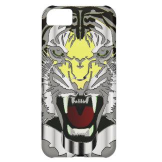 Tiger Head, Metallic-look,Wild Cat, Animal Cover For iPhone 5C