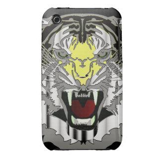 Tiger Head, Metallic-look,Wild Cat, Animal iPhone 3 Case