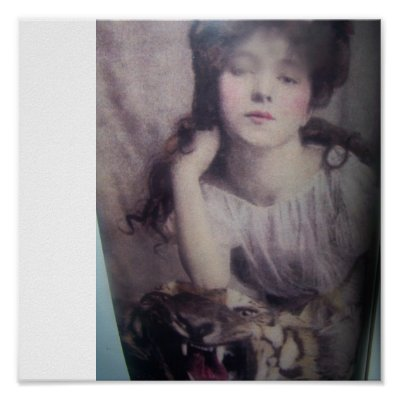 In 1901 young teen fashion model evelyn nesbit poses next to dead stuffed ...
