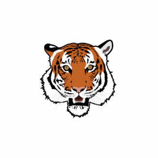 Tiger head cut out