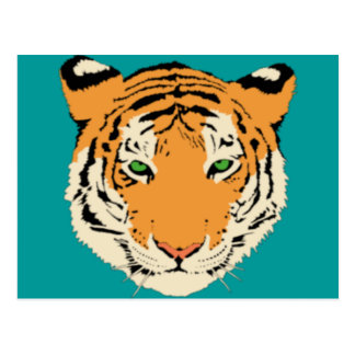Tiger Head Postcard