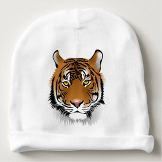 Tiger Head Print Design Baby Beanie