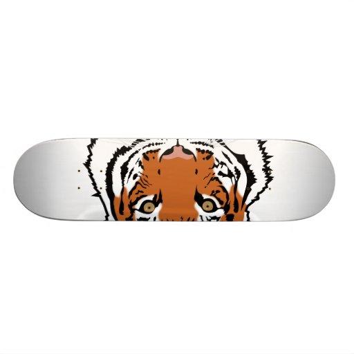Tiger head skateboard deck