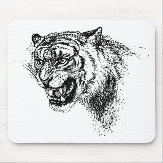 Tiger Head Sketch Mouse Pad