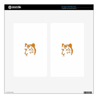 Tiger Head Skin For Kindle Fire