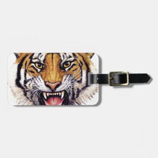 Tiger Head snarling.jpg Bag Tag