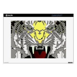 "Tiger Head, Tiger Artwork ,Wild Cat, Animal 15"" Laptop Decals"
