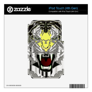 Tiger Head, Tiger Artwork ,Wild Cat, Animal Decals For iPod Touch 4G