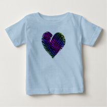 Tiger Heart 1 Baby Clothing Baby T-Shirt