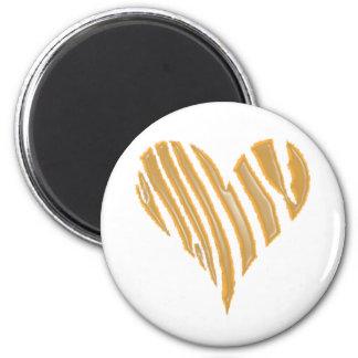 Tiger Heart 2 Inch Round Magnet