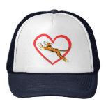 Tiger Heart Hats