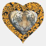 Tiger Heart Heart Sticker