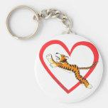 Tiger Heart Key Chain
