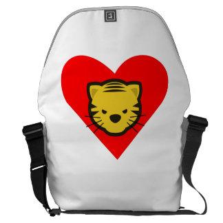 Tiger Heart Courier Bag