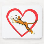Tiger Heart Mouse Pad