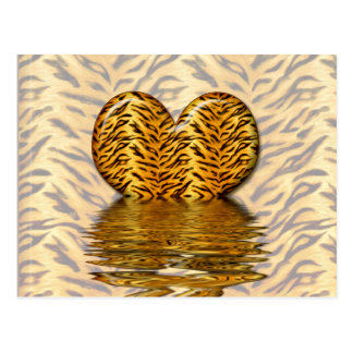 Tiger heart post cards