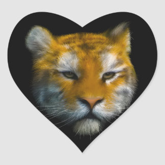 Tiger Heart Sticker