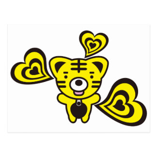 Tiger & Hearts Postcard