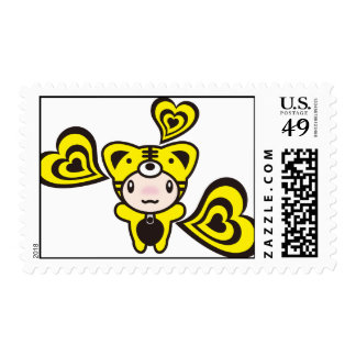 Tiger & Hearts Stamp