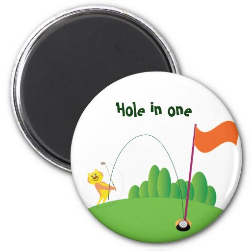 Tiger :: Hole in One Magnet