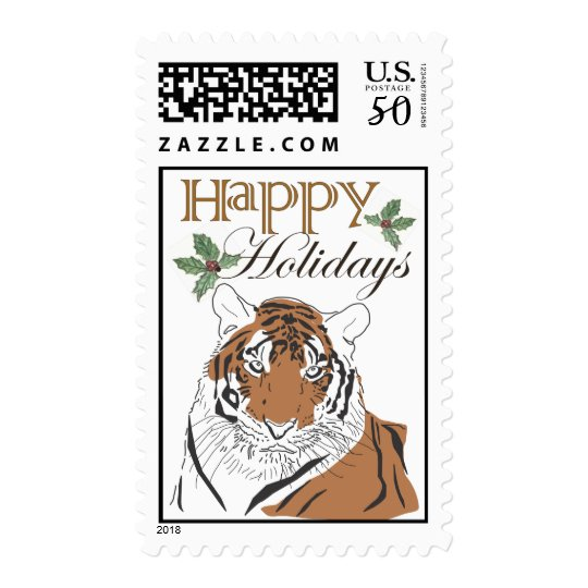 Tiger Holiday Stamp