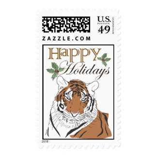 Tiger Holiday Stamp
