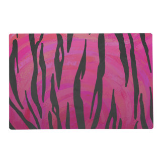Tiger Hot Pink and Black Print Placemat