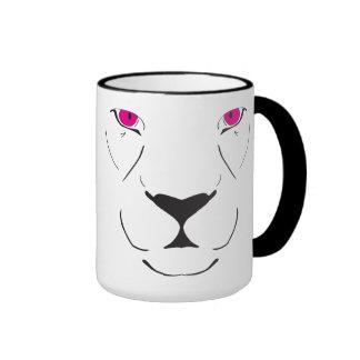 Tiger hot pink ringer coffee mug