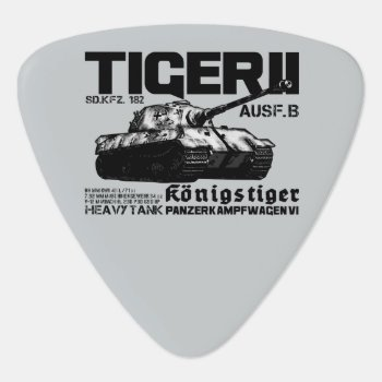 Tiger Ii Groverallman Guitar Pick by DeathDagger at Zazzle