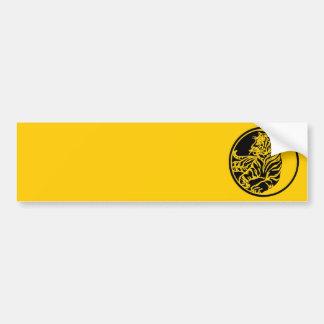 Tiger Illustration In Black Bumper Sticker