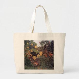 Tiger in a Jungle by Henri Rousseau Fine Art Tote Bag