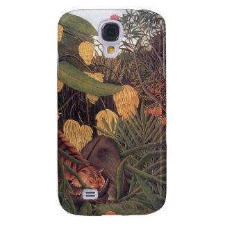 Tiger in a Jungle by Henri Rousseau Fine Art Samsung Galaxy S4 Cases