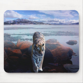 Tiger In A Lake Mouse Pad
