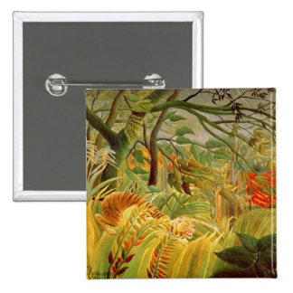 Tiger in a Tropical Storm  1891 Button