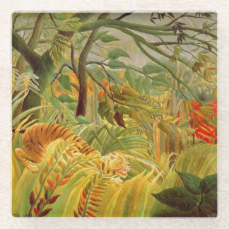 Tiger in a Tropical Storm  1891 Glass Coaster