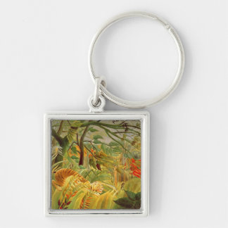Tiger in a Tropical Storm  1891 Keychain