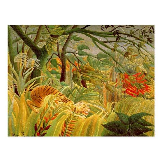Tiger in a Tropical Storm  1891 Postcard