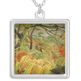 Tiger in a Tropical Storm  1891 Silver Plated Necklace