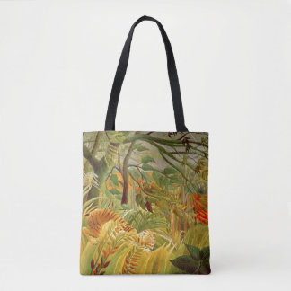 Tiger in a Tropical Storm  1891 Tote Bag