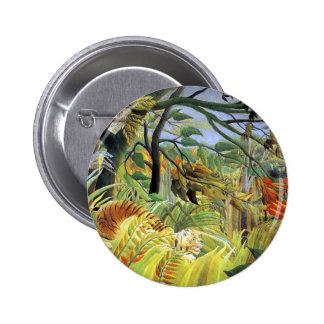 Tiger in a Tropical Storm Pinback Button