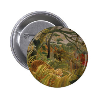 Tiger in a Tropical Storm Pin