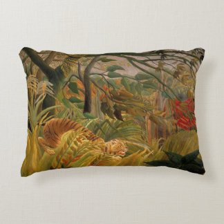 Tiger in a Tropical Storm by Henri Rousseau Accent Pillow