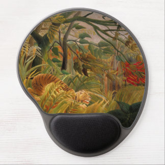 Tiger in a Tropical Storm by Henri Rousseau Gel Mouse Pad