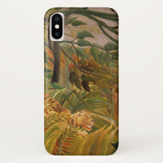 Tiger in a Tropical Storm by Henri Rousseau iPhone X Case